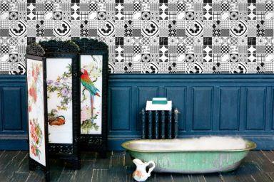dupenny-mixedtiles-wallpaper-in-situ